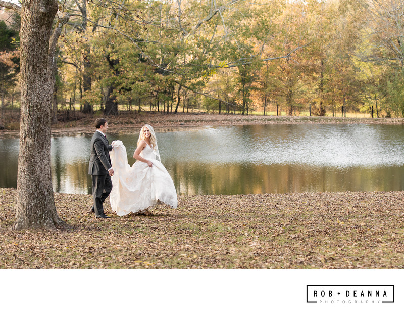 Memphis Wedding Photographers Heartwood Hall Walking