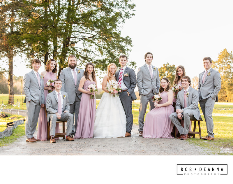 Memphis Wedding Photographer Bridal Party Mallard Croft