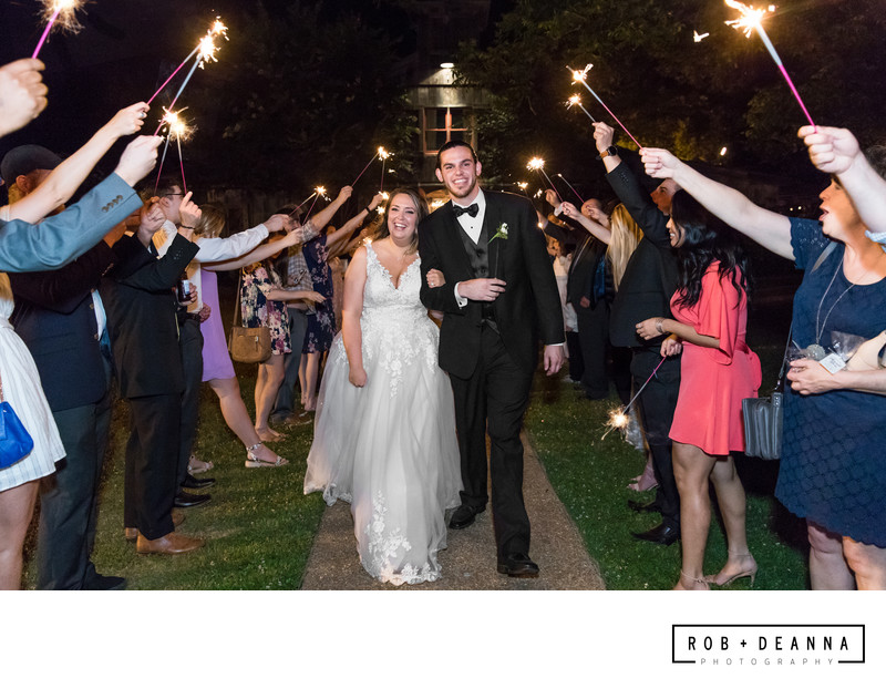 Memphis Wedding Photographer Heartwood Hall Sparkler