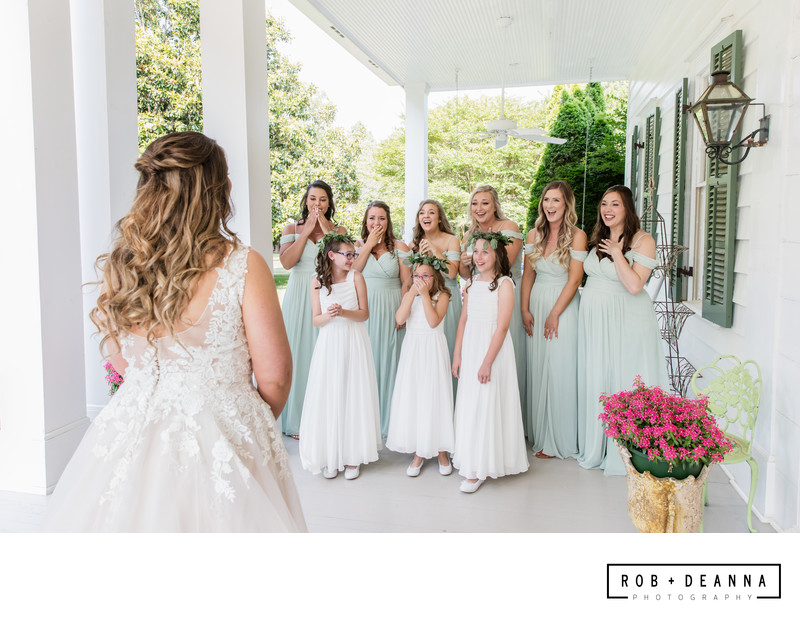 Memphis Wedding Photographer Heartwood Hall First Look
