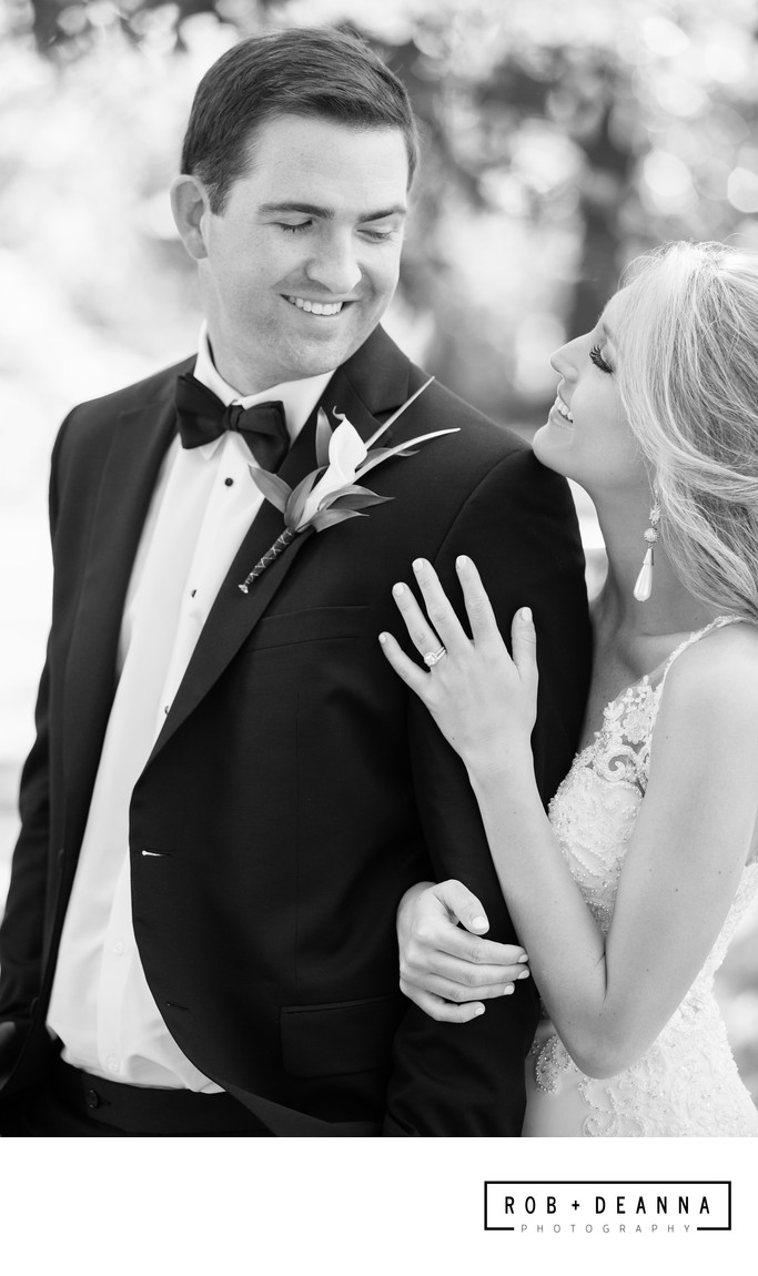 Memphis Wedding Photographer Black and White Portrait