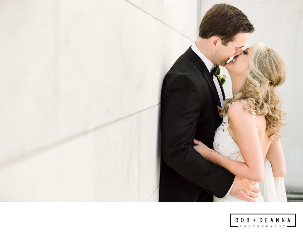 Memphis Wedding Photographer Portrait Kiss