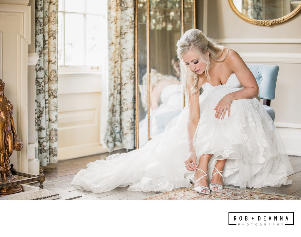 Memphis Wedding Photographer Cedar Hall Bride Shoes