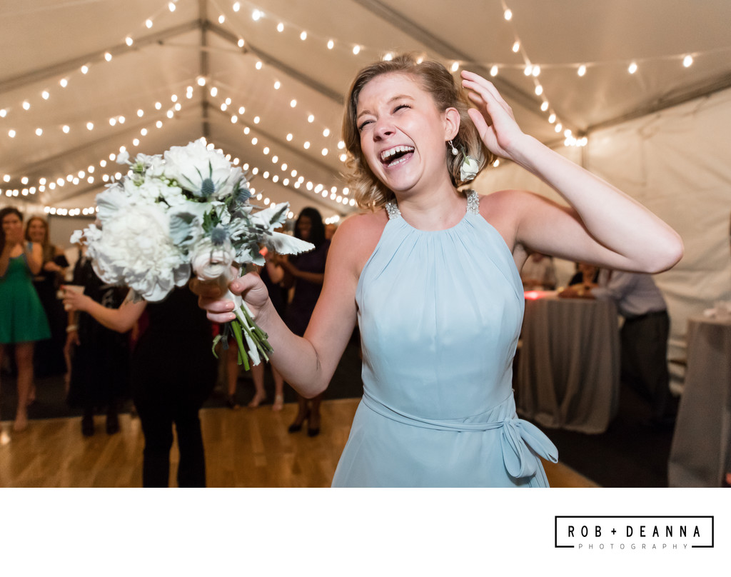 Memphis Wedding Photographer Bouquet Catch