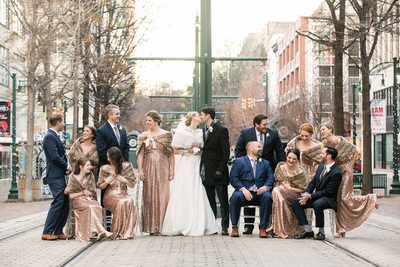 Memphis Wedding Photographer The Columns Bridal Party