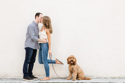 Memphis Wedding Photographer Downtown Kiss with Dog