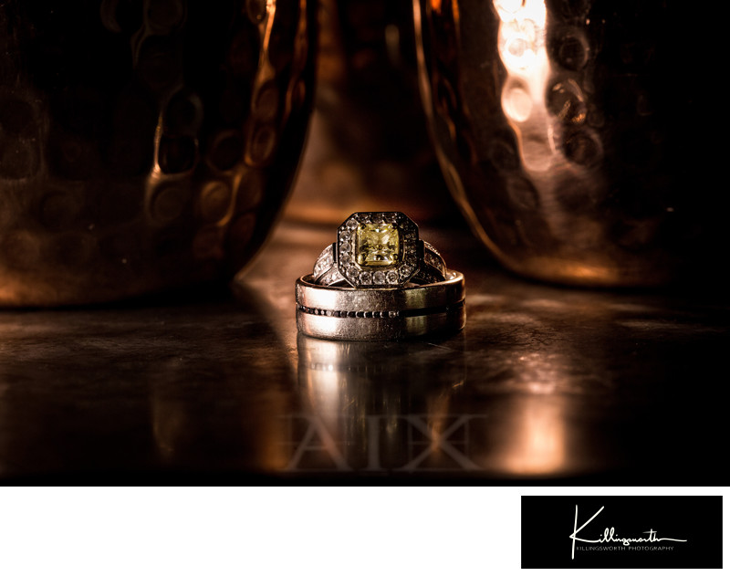 wedding ring details photo at villa aix vineyard