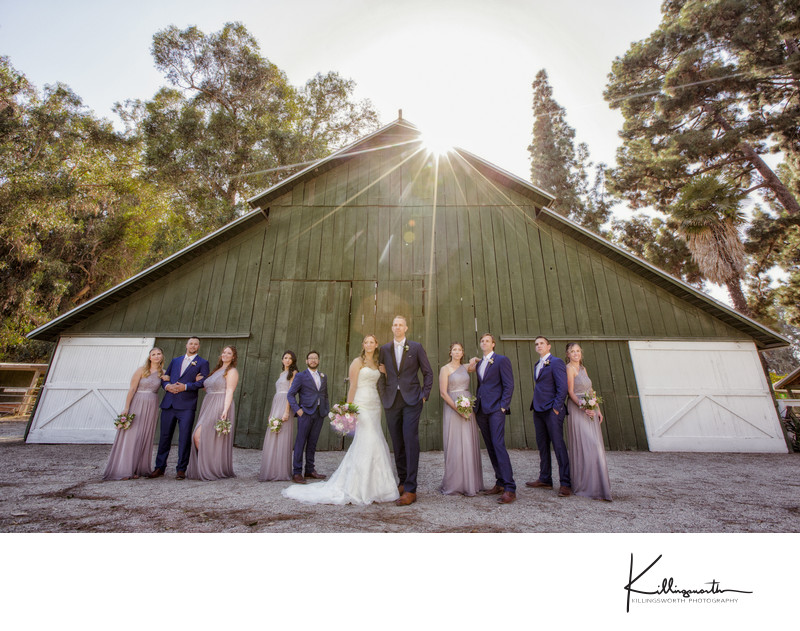 bridal party McCormick Ranch barn