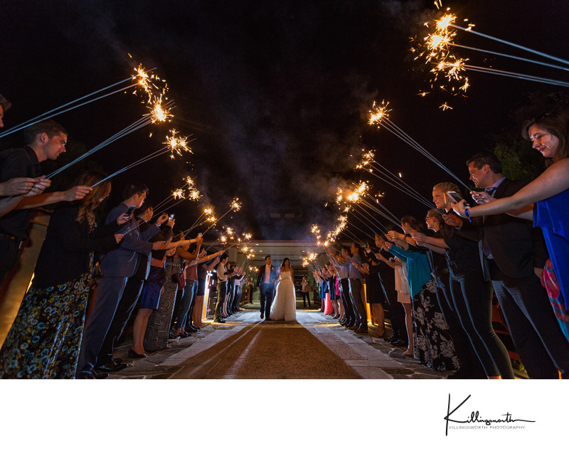 bride and groom sparkler exit Dallas Fort worth wedding