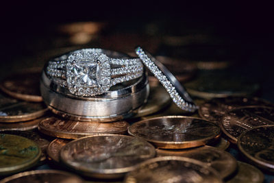 wedding ring with pennies