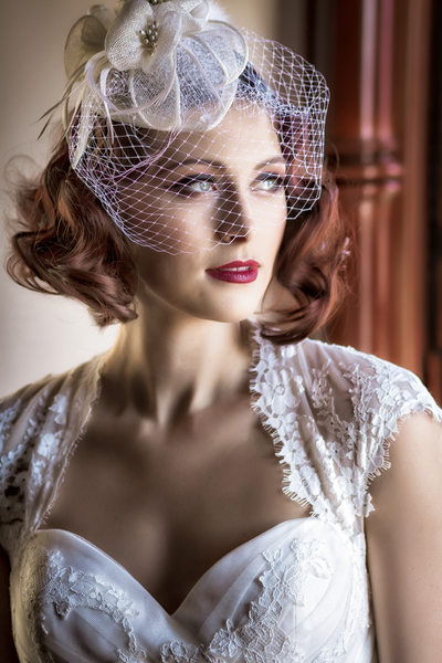 vintage bride at newhall mansion