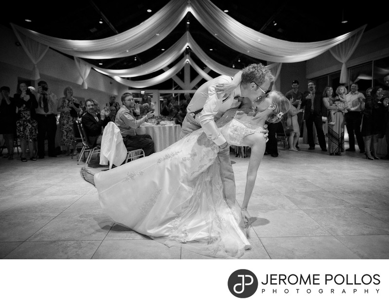 Bride Groom Hagadone Event Center Wedding Dance Dip