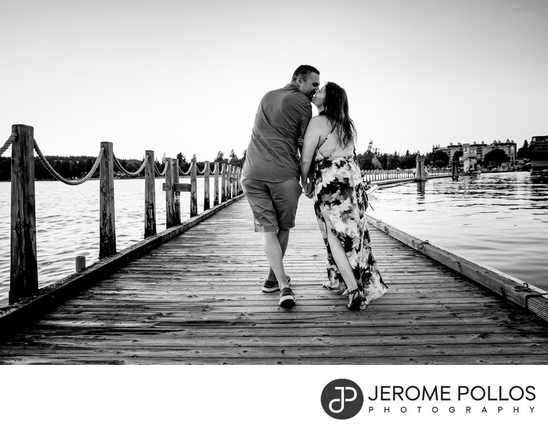 Boardwalk Engagement Portrait