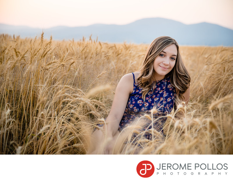 Wheat Field Senior Portrait