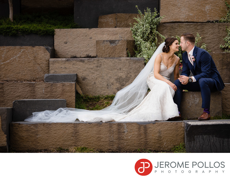 Downtown Bride Groom Moment Spokane Washington