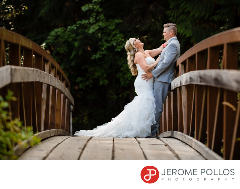 Elkins Resort Bridge Wedding Bride And Groom Moment