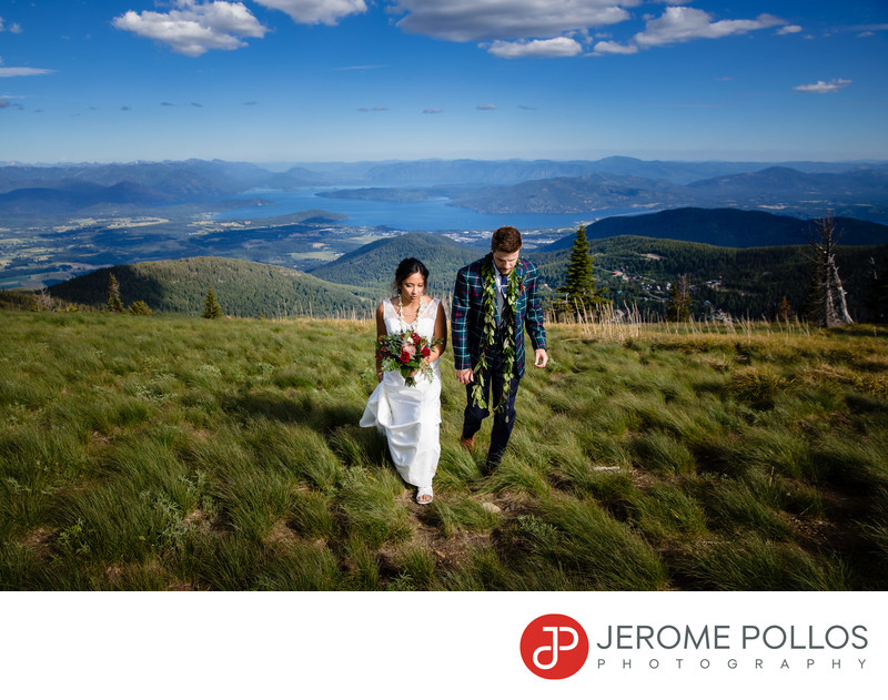 Bride And Groom Schweitzer Wedding Vista Sandpoint