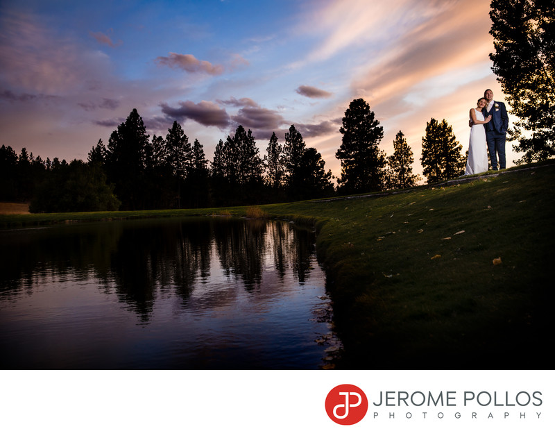 Beacon Hill Wedding Sunset Portrait Spokane Washington