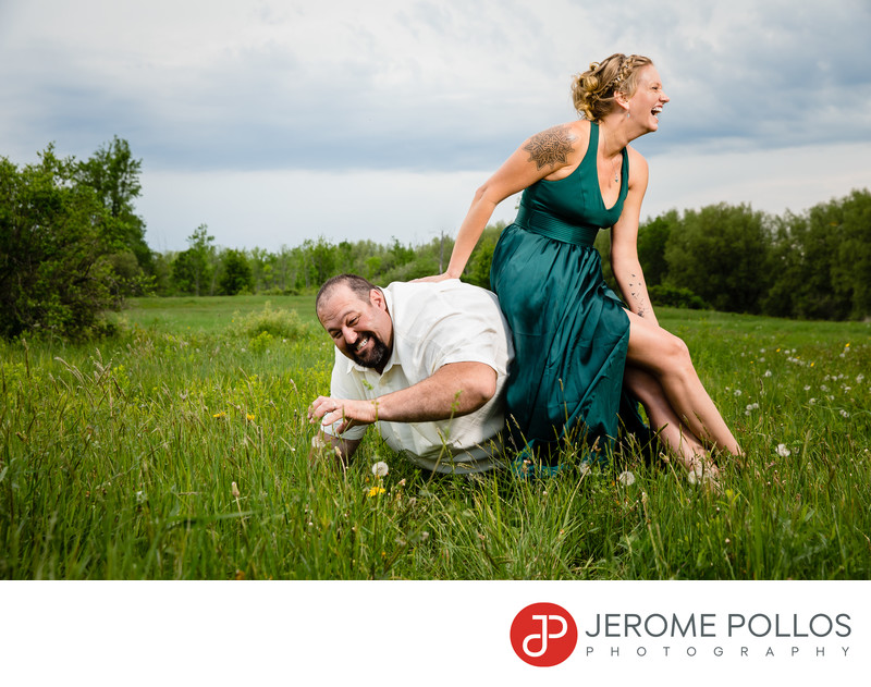 Fun and Goofy Wedding Portrait Chaumont New York