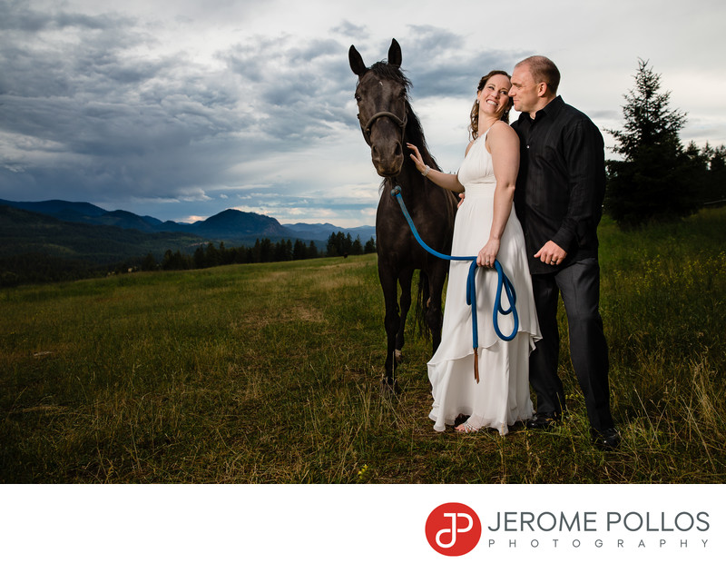 Horse Ranch Wedding In Chewelah, Washington