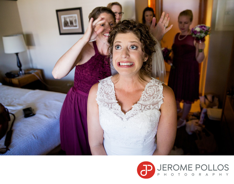 A Bride Reacts To Veil Pushed Hayden Lake Wedding