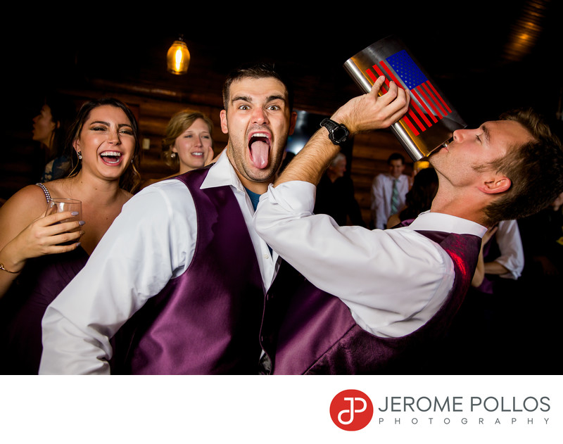Groomsmen Giant Flask Wedding Reception Elkins Resort