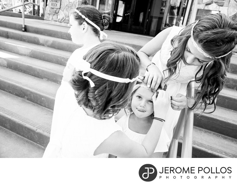 Flower Girl Prep Schweitzer Wedding Sandpoint Idaho