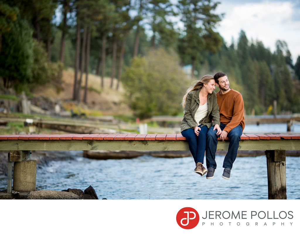 Engagement Portrait On The Dock