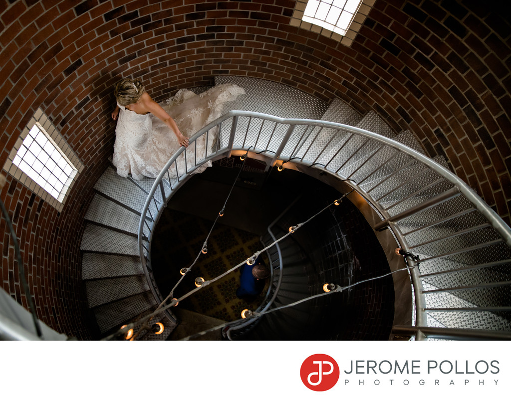 Belle On The Bluff Wedding Stairs With Bride Spokane