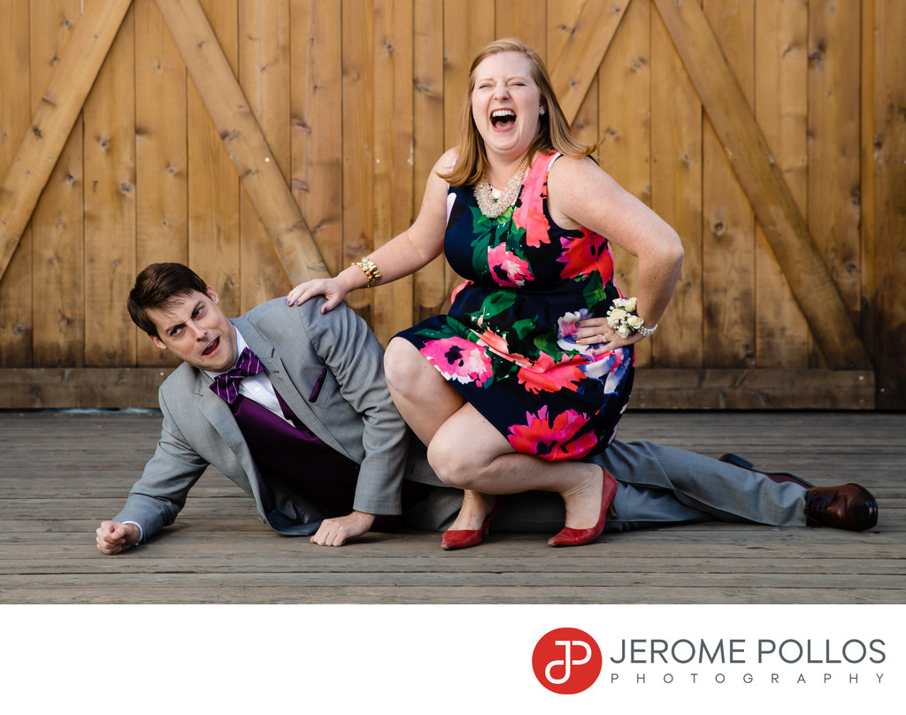 Groom And Sister Fun Portrait Trezzi Farm Spokane