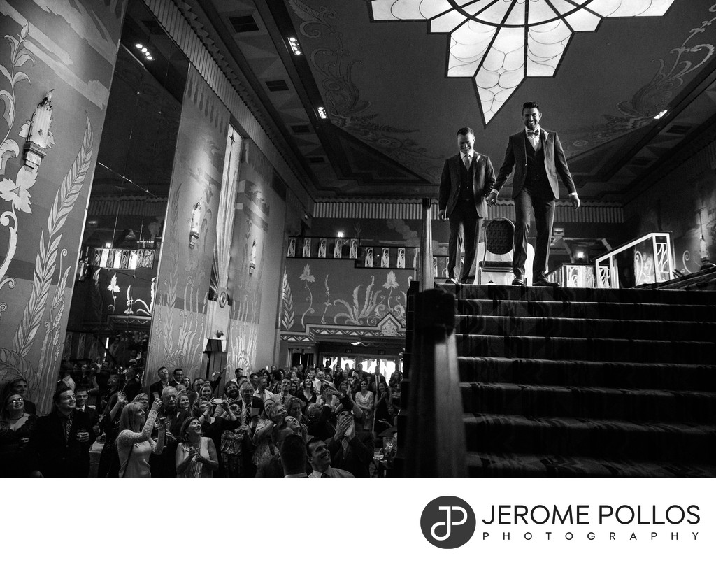 Two Grooms Wedding Grand Entrance Fox Theater Spokane