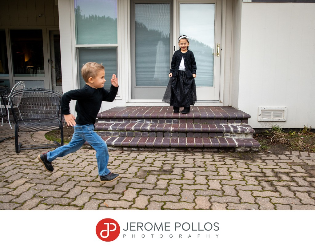 Children Play During Lifestyle Portrait Session