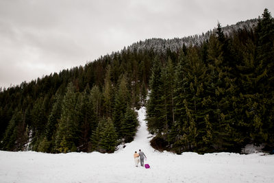 Elk Mountain Ranch Winter Wedding
