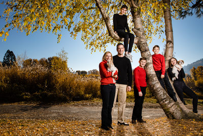 Family In The Tree Lifestyle Family Portrait