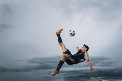 Soccer Kick Senior Portrait