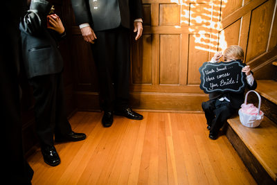 Ring Bearer Ceremony Sign Blackwell Hotel Coeur d'Alene