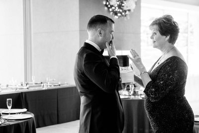 Groom Cries with Mother of bride Hagadone Event Center