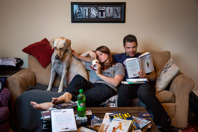 Fun At Home Pregnancy Announcement Picture