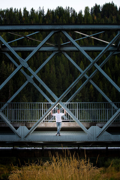 Bridge Location Senior Portrait