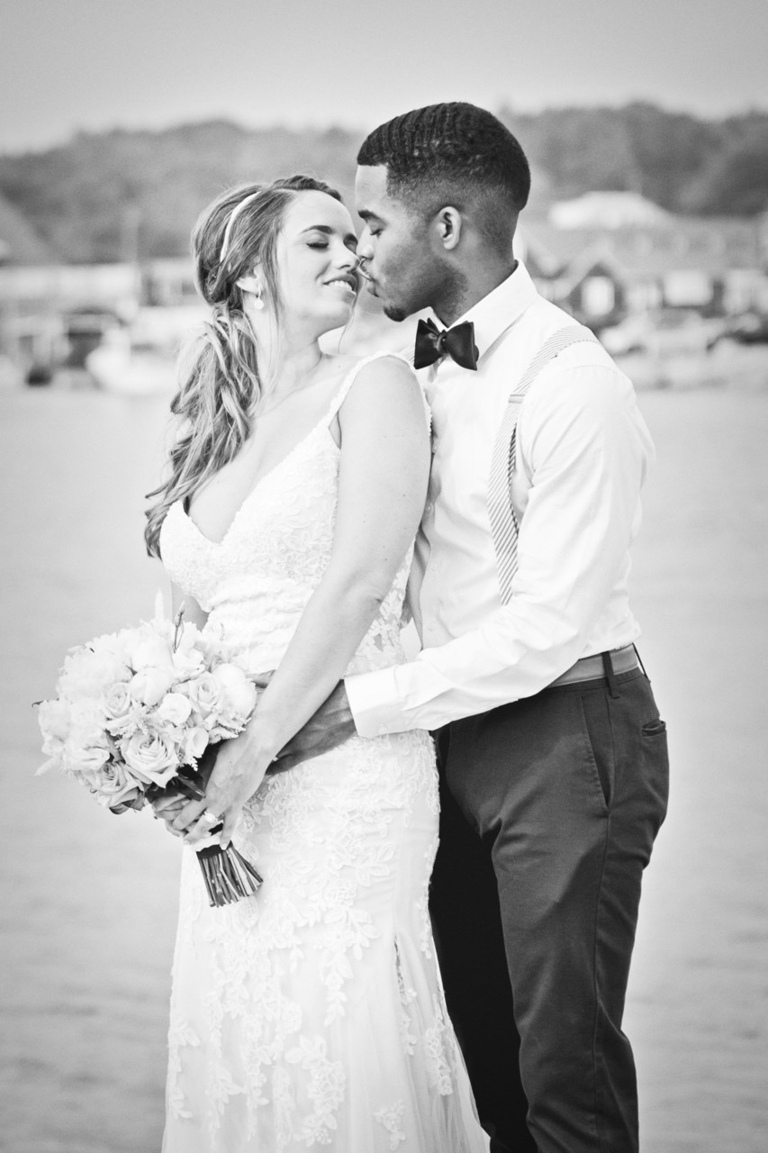 mixed race wedding photography in Kennebunkport, Maine