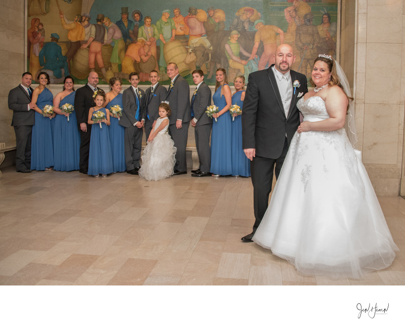 cleveland public library wedding portrait