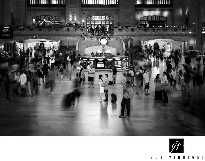Grand Central Engagement Photos