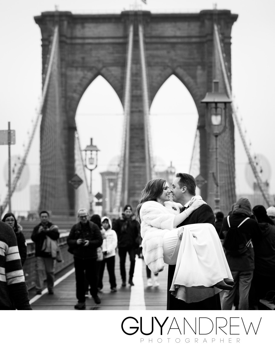 brooklyn bridge wedding pics