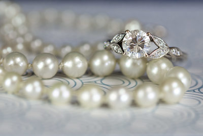 engagement ring with pearls