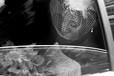 Black and white wedding photography