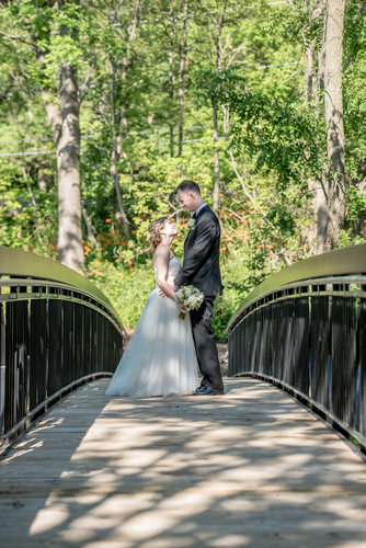 Ancaster Mill bridge wedding