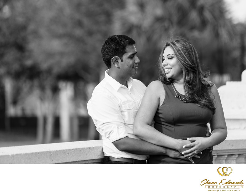Blue Jacket Park engagement photogr