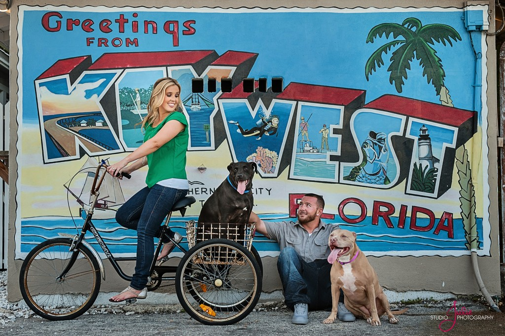 fun engagement session key west post card sign