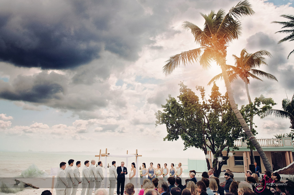 Ceremony by the water Sunny skies Key West, Florida