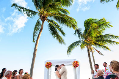 First Kiss Key West Wedding Southernmost on the Beach